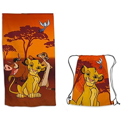 Aymax - Toalla de playa con diseño de león y bolsa de natación