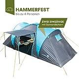 skandika Hammerfest Tente familiale 4 Personnes Bleu 500 x 220 x 200 cm Mixte