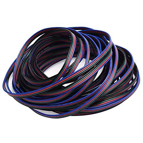 Preisvergleich Produktbild ULG RGB Kabel 4 pins Verlängerungskabel Kabel für 5050 3528 LED-Lichtleiste 10m 32.8ft LED Splitter-Steckverbinder kit 4 Farbe