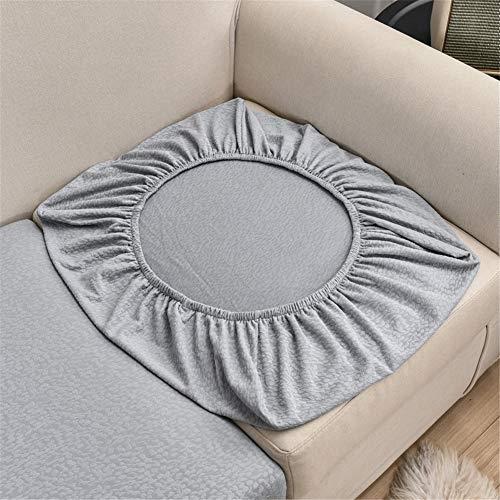 KYJSW Sofa-Sitzkissenbezüge Wasserdicht, Couch-Kissenbezüge für einzelne Kissen, Sofa-Sitzkissenbezüge Stretch Ersatz (Hellgrau, Recamiere)