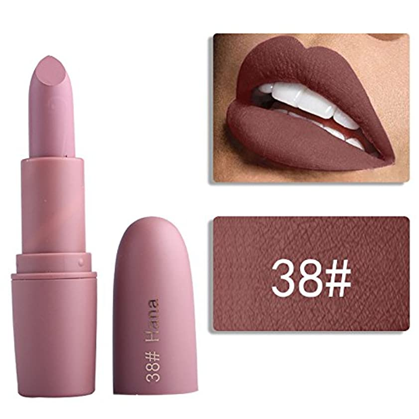 どれでも探偵主観的Miss Rose Nude Lipstick 22 colors Waterproof Vampire Brown Beauty Baby Lips Batom Matte lipstick Makeup Tats Eugenie Margherita
