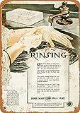 Letrero de metal – 1920 jabón marfil – Reproducción de aspecto vintage cartel de lata de 30,5 x 20,3 cm para decoración de pared del hogar