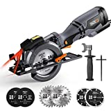 Circular Saw, TACKLIFE Mini Circular Saw 3500RPM, Metal Handle, 6...