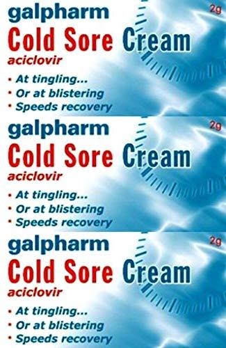 Galpharm Cold Sore Cream, generic aciclovir cream - three-pack