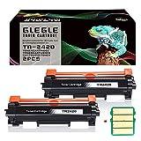 GLEGLE 2 PK Compatible Brother TN-2420 TN2420 TN2410 [con Chip] Cartucho de Toner para HL-L2310D HL-L2350DW HL-L2370DN HL-L2375DW DCP-L2510D DCP-L2530DW DCP-L2550DN MFC-L2710DW MFC-L2730DW MFC-L2750DW