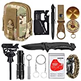 XUANLAN Emergency Survival Kit 13 in 1, Outdoor Survival Gear Tool with Survival Bracelet, Fire Starter,...