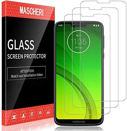MASCHERI Schutzfolie für Motorola Moto G7 Power (6.2 Zoll) Panzerglas, [3 Stück] Screen Protector Glas Panzerglasfolie Displayschutzfolie Folie für Moto G7 Power