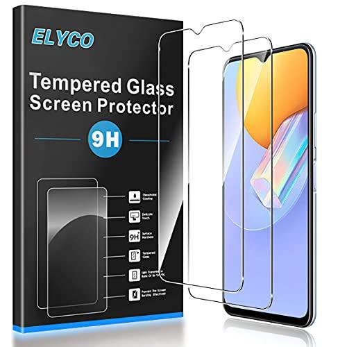 ELYCO Cristal Templado Protector de Pantalla para Vivo Y51/vivo Y72 5G/OPPO A11X/Moto G8 Power Lite/OPPO A5 2020, [2 Piezas] 9H Dureza, Antihuellas, Antiarañazos HD Protector de Vidrio Templado