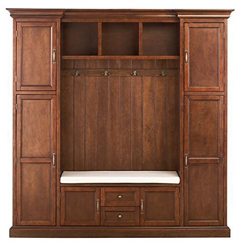 Home Decorators Collection Royce All in one Mudroom, Large, Smokey Brown