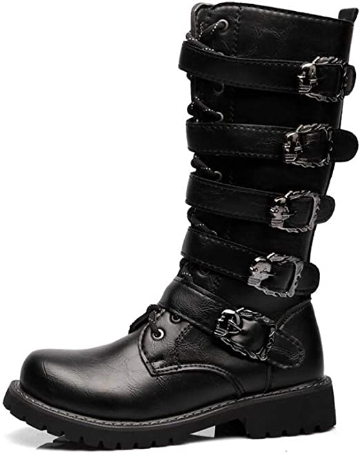 Side Buckle Motorcycle Boots