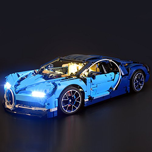 Lightailing Set di Luci per (Bugatti Chiron) Modello da costruire - Kit luce led compatibile con Lego 42083 (NON incluso nel modello)