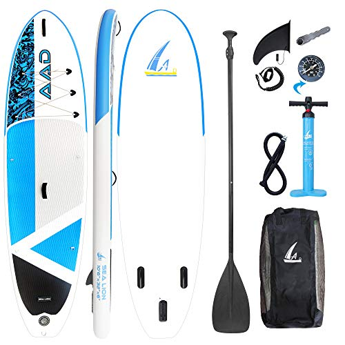 AKD Germany Sea Lion 10'6 '' Paddle Board, SUP Ultra Robusto con Pompa Zaino Telescopico in Alluminio con Guinzaglio 320 X81 X15cm Stand Up Paddle Gonfiabile Kayak per Crociera