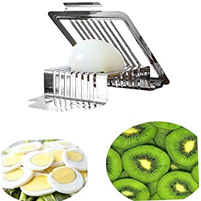 SUPRIQLO Durable Practical Kitchen Stainless Steel Boiled Egg Cutter Slicer Outdoor Cooking Tools & Accessories