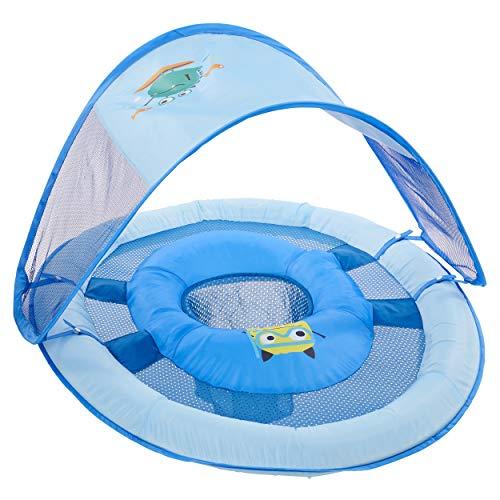 SwimWays Baby Spring Float Sun Canopy - Blue Sea Monster
