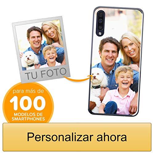 Funda Personalizada para Samsung Galaxy A50 con tu Foto, Imagen o Escritura - Estuche Suave de Gel TPU Transparente - Impresión