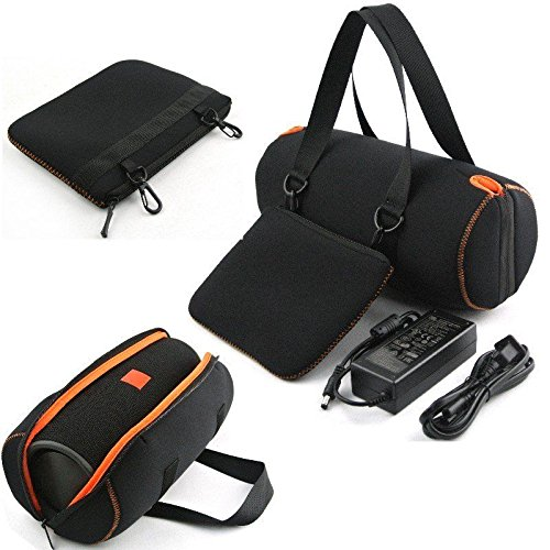 Soft Travel Carrying Case for JBL Xtreme - MASiKEN Protective Carry Case Cover Pounch Bag for JBL Xtreme Portable Wireless Bluetooth Speaker (Black)