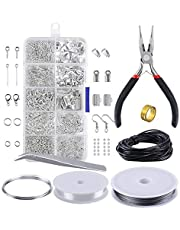 Jewelry Making Kit, KKmoon Jewelry Making Tools Findings Starter Set Jewelry Beading Making and Repair Tools Pliers Silver Beads Wire Starter Tool