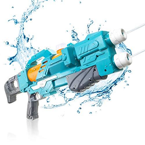 KMV Water Gun for Kids & Adults, 22.8' Long Super Strong Squirt Gun Water Soaker Blaster 600CC,...