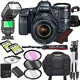 Canon EOS 6D Mark II DSLR Camera Bundle with 24-105mm L is II USM Lens   Built-in Wi-Fi 26.0 MP Full Frame CMOS Sensor    DIGIC 7 Image Processor and Full HD Videos + 64GB + TTL Bounce Flash (17pcs)