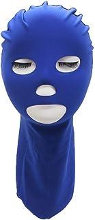 温he UVカット防水日焼け止めシンプルスタイルフェイスジニ Facekini (色 : Dark blue)