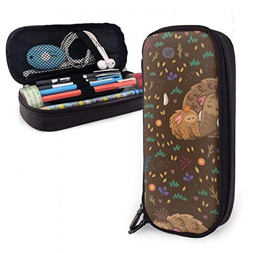 Estuche pequeño para lápices de lana mamut para niños y niñas, tamaño grande, para estudiantes, colegios y oficinas