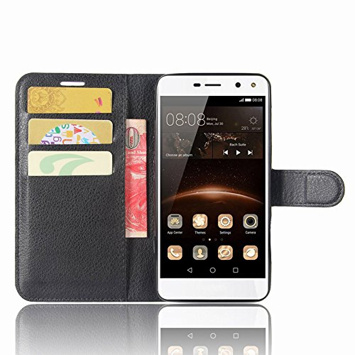 SMTR Huawei Nova Young Custodia, SMTR Huawei Nova Young Wallet Case Cover Leather Flip Cover Magnetic closing Anti-Shock Function with Stand - Nero