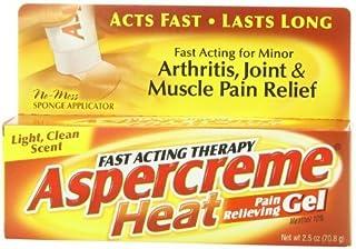 Aspercreme Heat Pain Relieving Gel, 2.5 Ounce by Aspercreme