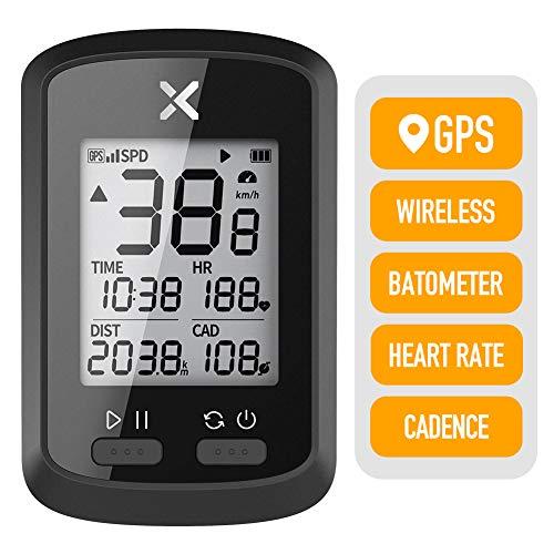 XOSS Fahrradcomputer G + Wireless GPS Tacho Wasserdicht Rennrad MTB Fahrrad Bluetooth ANT + mit Trittfrequenz (XOSS G+)