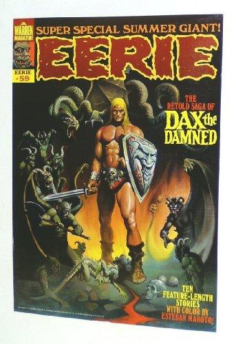 Vintage 1974 Warren Publications EERIE Magazine # 59 Horror Poster: Barbarian vs Devil Demons