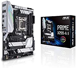 Asus Prime X299- A II ATX Motherboard (Intel X299) LGA 2066, 12 IR3555 Power Stages, DDR4 4266 MHz, Triple M.2, USB 3.2 Ge...