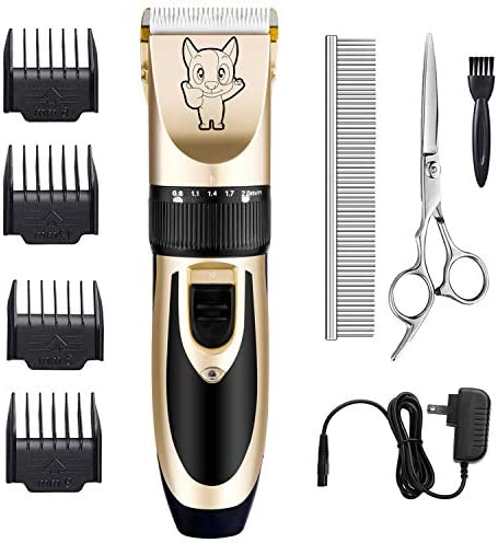 Dog Grooming Kit Clippers, Low Noise, Electric...