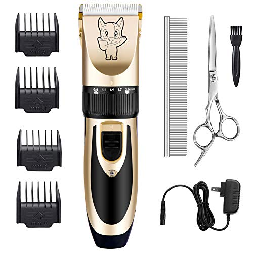 Dog Grooming Kit Clippers, Low Noise, El…