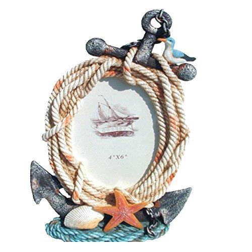 Rockin Gear Nautical Themed Boho Bilderrahmen Foto Rahmen–ist 10,2x 15,2cm Print Anchor