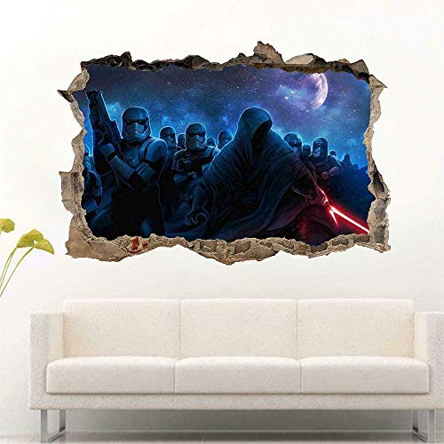 Wandtattoo - 3D - Filmkriege Force Awakens Smashed Wall Sticker Aufkleber Home Decor Art - 50×70cm