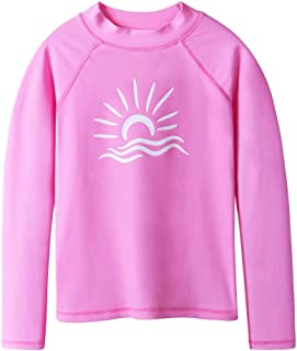 TFJH E Girls & Boys Long Sleeve Rashgurad Swimsuit UPF 50+ Kids Swimwear Sunsuits