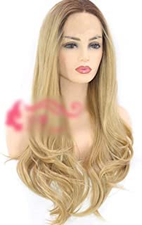 Women Daily Party Cosplay Wig Heat Resistant Lace Front Wig Ombre Blonde Hair Wig for,Hairpieces (Color : Blonde)
