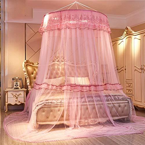 Irinay European Princess Dome Cama Suspendida con Chic Casual Dosel Mosquitera Doble Hogar Encriptar Cortina De Mosquito Engrosada I Queen1 (Color : Colour, Size : Size)