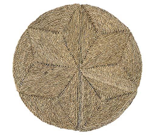 HERSIG - Alfombra Fibra Natural | Alfombra Redonda de Seagrass - 90 cm