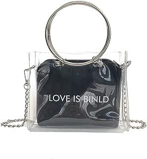 Bageek Shoulder Bag Chain Top Handle Bag Clear Fashion Handbag Crossbody Bag