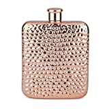 Final Touch Luxe Copper Flask with Hammered Finish - 6 oz (175 ml) (FTA1828)