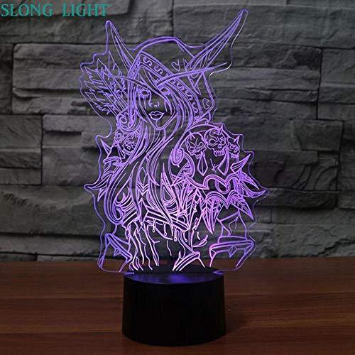 Regalo conmemorativo de cumpleaños Luz 3D Personaje de juego de dibujos animados Luz de noche LED Productos para bebés USB Luz de noche