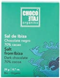 Chocolate Organiko - Tableta de chocolate negro 70% cacao con Flor de Sal de Ibiza 20 gr