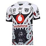 Canterbury NRL Warriors Maillot autochtone Noir Blanc Rouge, xl