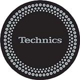 Technics - Patinador para tocadiscos (1 par), color negro y plateado
