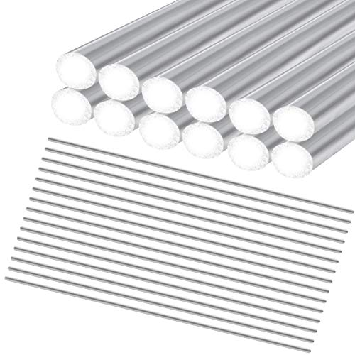 Iceyyyy 60 Pieces Aluminum Welding Rods - 0.08 x 8 Universal Aluminum Brazing Rods Aluminum Repair Rods Low Temperature Aluminum Welding Cored Wire for Electric Power, Drill Tap Polish and Paint