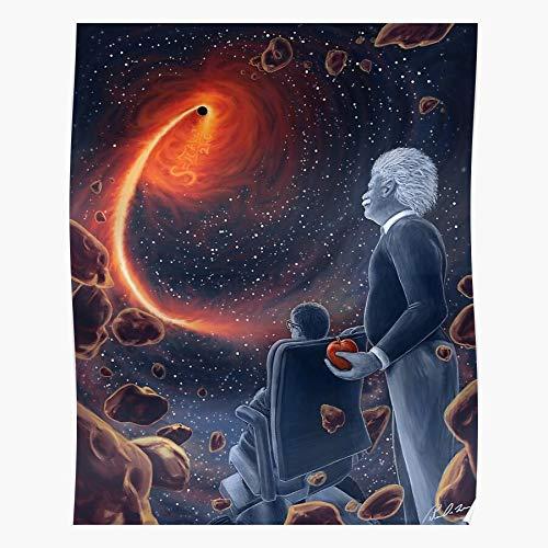 Math E Science Hawking Mathematical Stephen Albert Mc2 Einstein Home Decor Wandkunst drucken Poster !