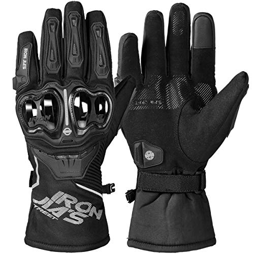 Waterproof Motorcycle Riding Gloves Touchscreen Winter Armored Glove for Men