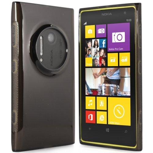 Preisvergleich Produktbild moodie Silikonhülle für Nokia Lumia 1020 Hülle in Schwarz-transparent - Case Schutzhülle Tasche für Nokia Lumia 1020