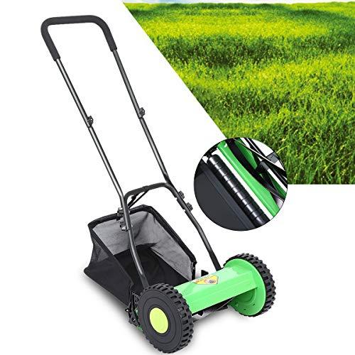 Rasaerba Manuale con Borsa Raccolta 23L Tagliaerba Manuale, Greenworks Tools con Larghezza di Taglio 30 cm