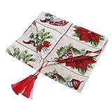 Huakii 【Cadeau d'Avril】 Mantel de Navidad, decoración de Mesa, Regalo Ideal Decorativo Exquisito para Vacaciones de Navidad(C Section Grid)